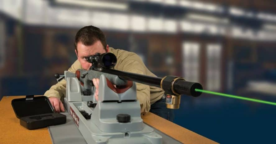 how to sight in a scope with a laser bore sighter