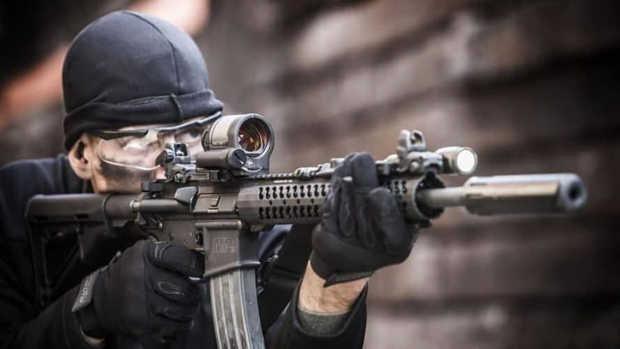 ar 15 red dot magnifier combo
