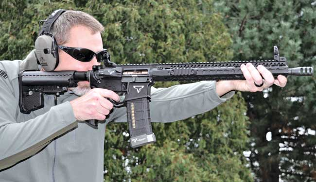 how to use open sights on a rifle