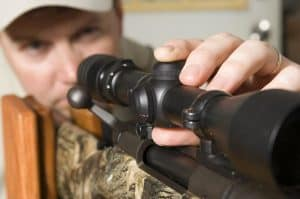 how to sight in a rifle scope without shooting